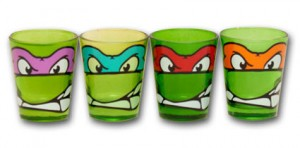 teenage mutant ninja turtle shot glasses